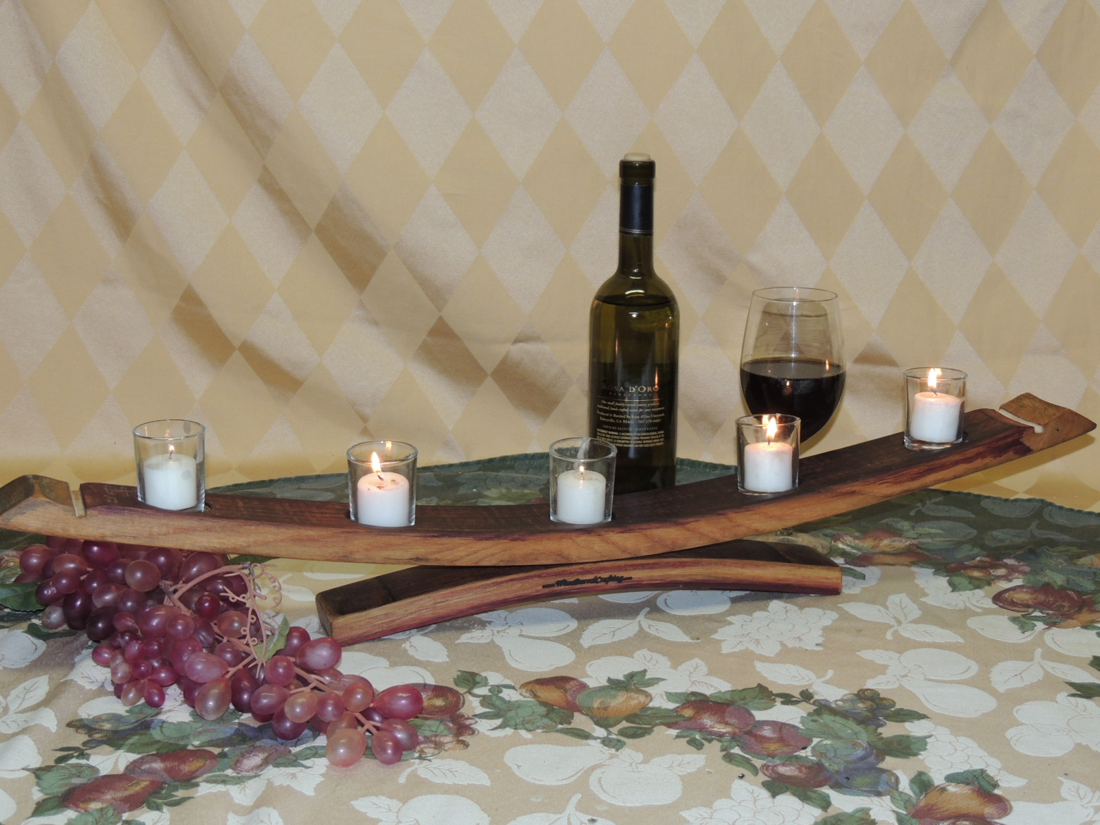 Stave Candle Rack (Bow Down Oil Finish Stave Feet)