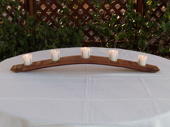 Full Stave Candle Rack (Bow Up Oil Finish)