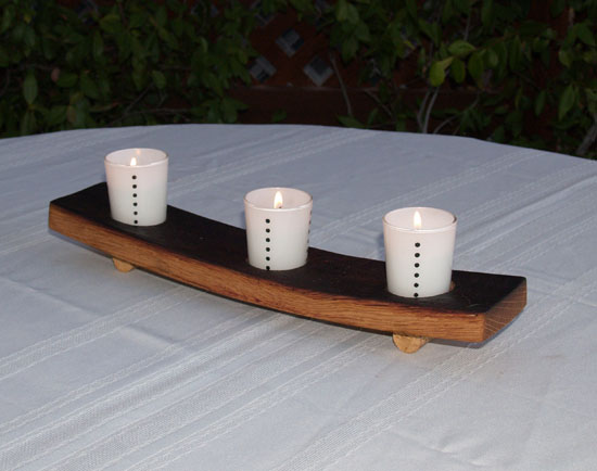 Half Stave Candle Rack (Bow Down Oil Finish)