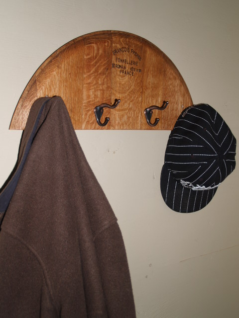 Half Barrel Head Coat Racks